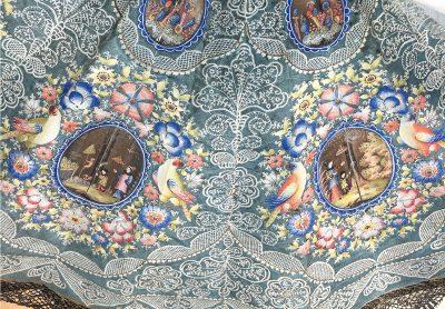 Sonnenschirm aus dem Besitz der Herzogin Luise Dorothea (Detail), Frankreich und China(?), frühes 18. Jahrhundert, 54 cm Durchmesser; Stiftung Schloss Friedenstein Gotha; © Stiftung Schloss Friedenstein Gotha / Foto: Peter Mildner