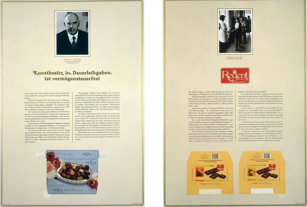 Hans Haacke, Der Pralinenmeister, 1981; © Hans Haacke/VG Bild-Kunst