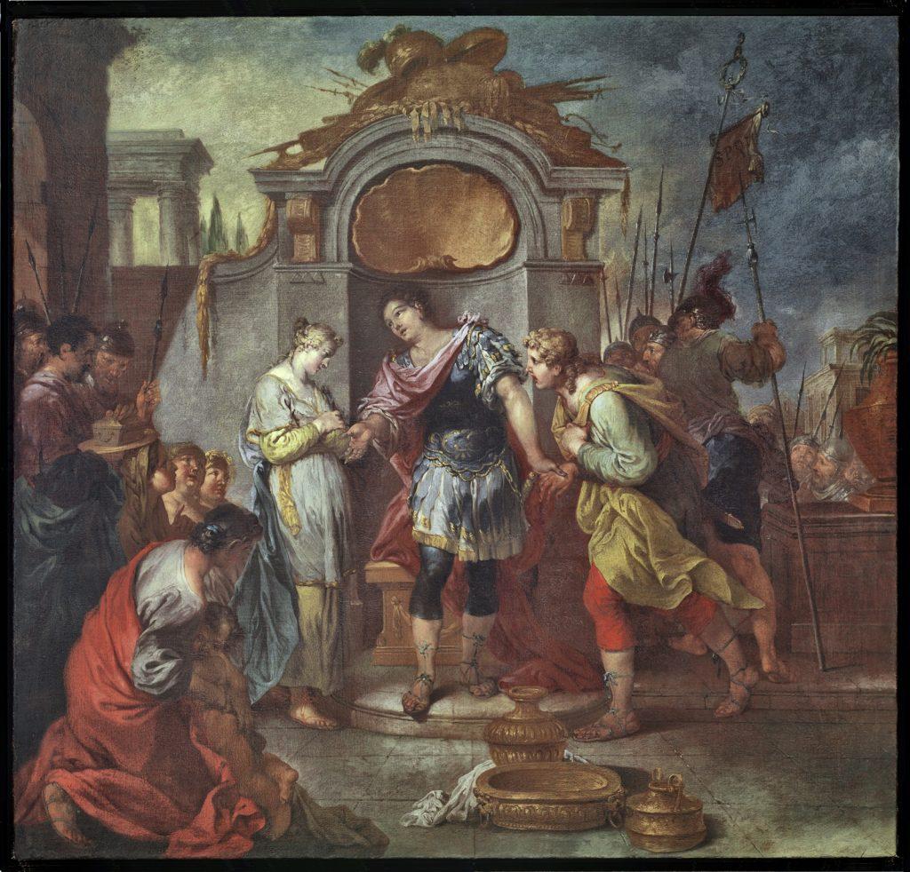 Januarius Zick, Die Enthaltsamkeit des Scipio, 1780/90; Mittelrhein-Museum, Koblenz
