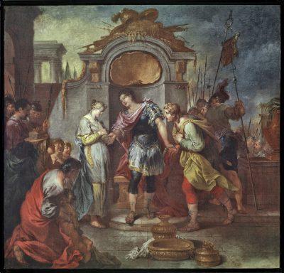 Januarius Zick, Die Enthaltsamkeit des Scipio, 1780/90; Mittelrhein-Museum, Koblenz; © Galerie Neuse