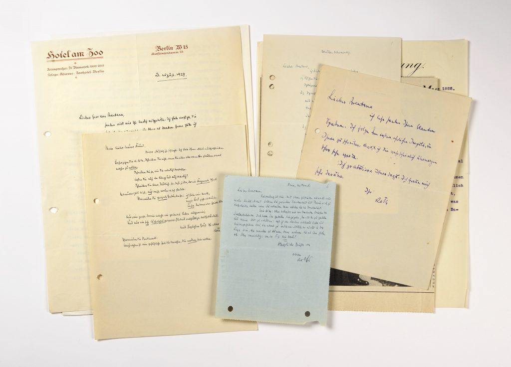 Briefe von Joseph Roth an Bernard von Brentano; © Foto: DLA Marbach