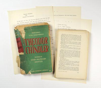 Unterlagen zum Roman Theodor Chindler;  © Foto: DLA Marbach