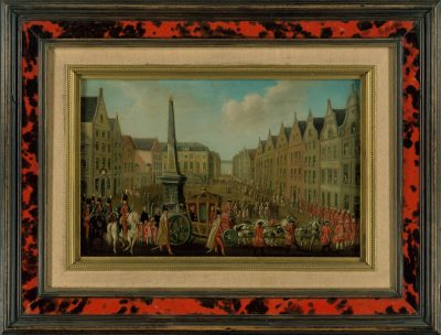 Franz Rousseau, Besuch des Koadjutors Max Franz in Bonn; Ankunft auf dem Marktplatz, 1780; Beethoven-Haus Bonn