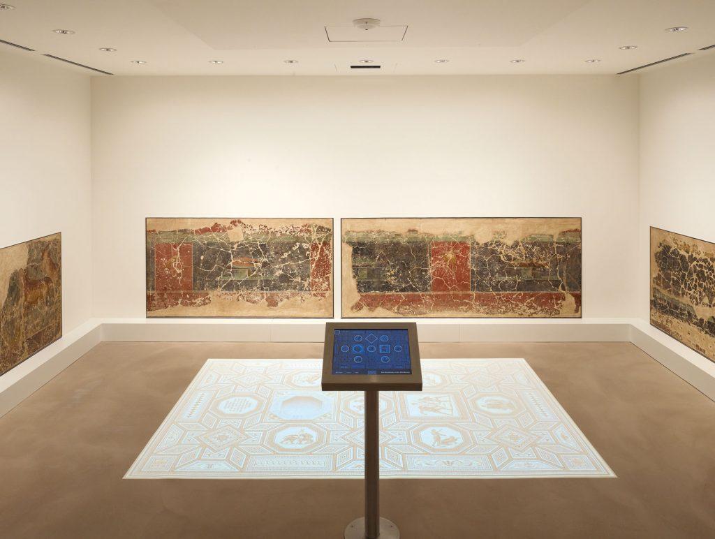 Präsentation der römischen Wandmalereien im Museum für Vor- und Frühgeschichte Saarbrücken; © Stiftung Saarländischer Kulturbesitz/Museum für Vor- und Frühgeschichte