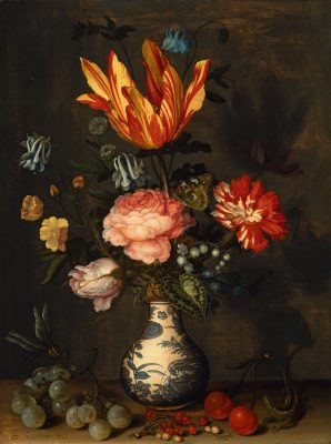Balthasar van der Ast, Blumen in einer Wan-Li-Vase, 1625-1630, 36,6 x 27,7 cm; Suermondt-Ludwig-Museum Aachen; © Suermondt-Ludwig-Museum, Aachen / Foto: Anne Gold, Aachen
