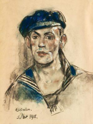 Erich Krause, Matrosenporträt, 1918; Kieler Stadt- und Schifffahrtsmuseum; © Kieler Stadt- und Schifffahrtsmuseum