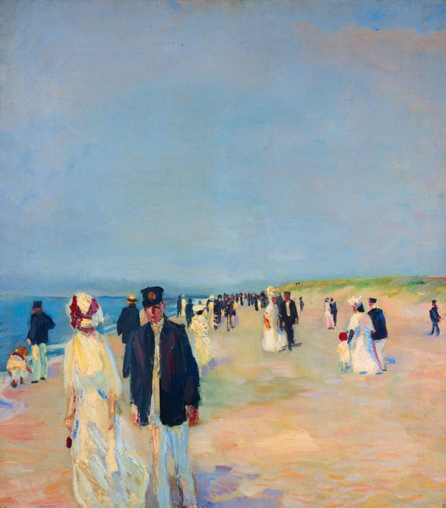 Albert Weisgerber, Strand auf Norderney, 1910, 79,5 x 70 cm; Saarlandmuseum Saarbrücken/Moderne Galerie; © Saarlandmuseum Saarbrücken/Moderne Galerie