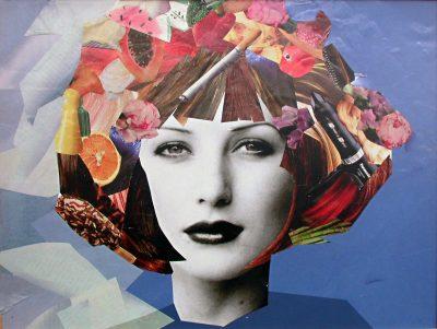 Berufskolleg Alsdorf: Bildungsgang Friseure, Projekt Farben und Form; © Foto: Sabine Heister