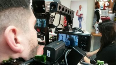 Berufskolleg Alsdorf: Filmprojekt Identity, hinter der Kamera; © Foto: Alexander Müller-Hermes