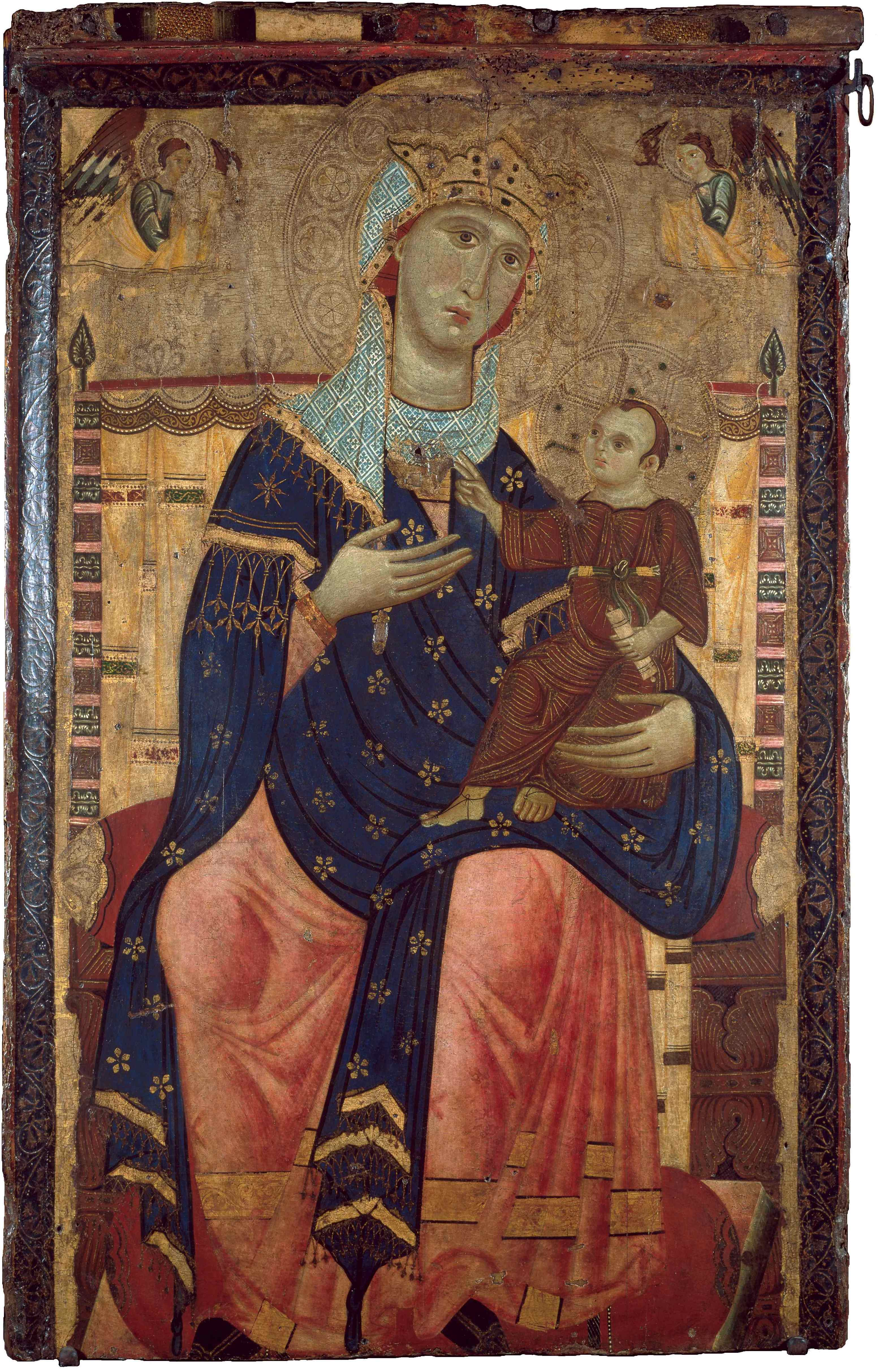 Lucchesischer Meister, Thronende Madonna mit Kind, um 1260/70, 104 × 63 cm; Wallraf-Richartz-Museum & Fondation Corboud; © Wallraf-Richartz-Museum & Fondation Corboud