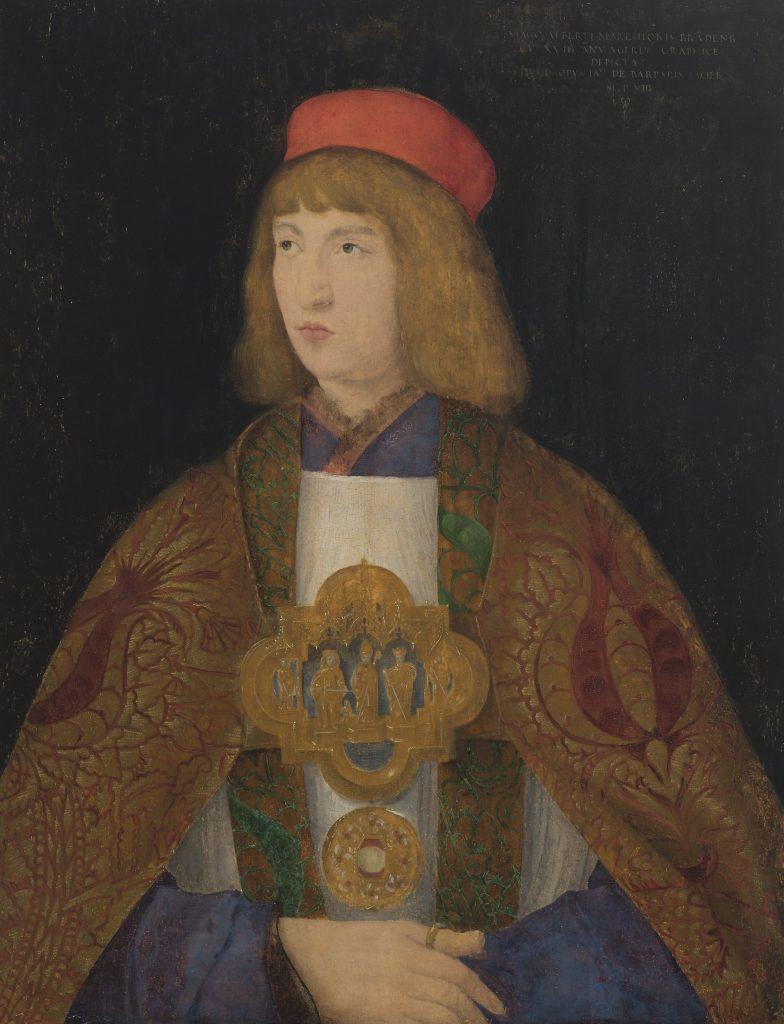 Jacopo de' Barbari, Albrecht von Brandenburg, 1508, 68,3 × 53,3 cm; Kulturstiftung Dessau-Wörlitz