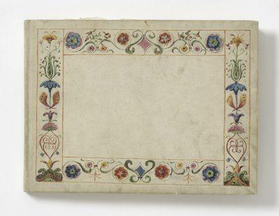 Rehberg-Album, Außeneinband, um 1830, 21,5 x 29 cm; © Museen für Kulturgeschichte Hannover, Museum August Kestner