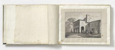 Friedrich Nerly, Villa Raffaelo, um 1830, Museum August Kestner; © Museen für Kulturgeschichte Hannover, Museum August Kestner