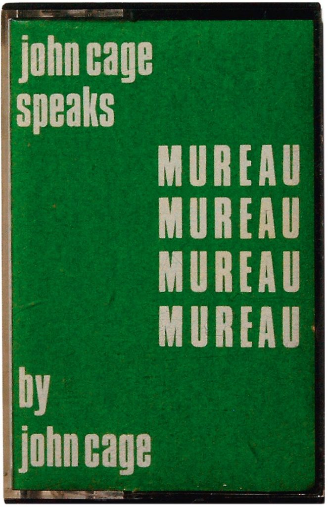 John Cage speaks Mureau (Audio-Kassette), Edition S Press, Hattingen, 1972; © John Cage