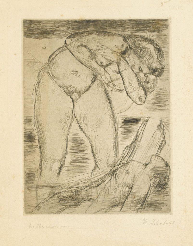 Wilhelm Lehmbruck, Überschwemmung, 1914, Radierung, 61,3 × 44,2 cm; Staatsgalerie Stuttgart; © Staatsgalerie Stuttgart