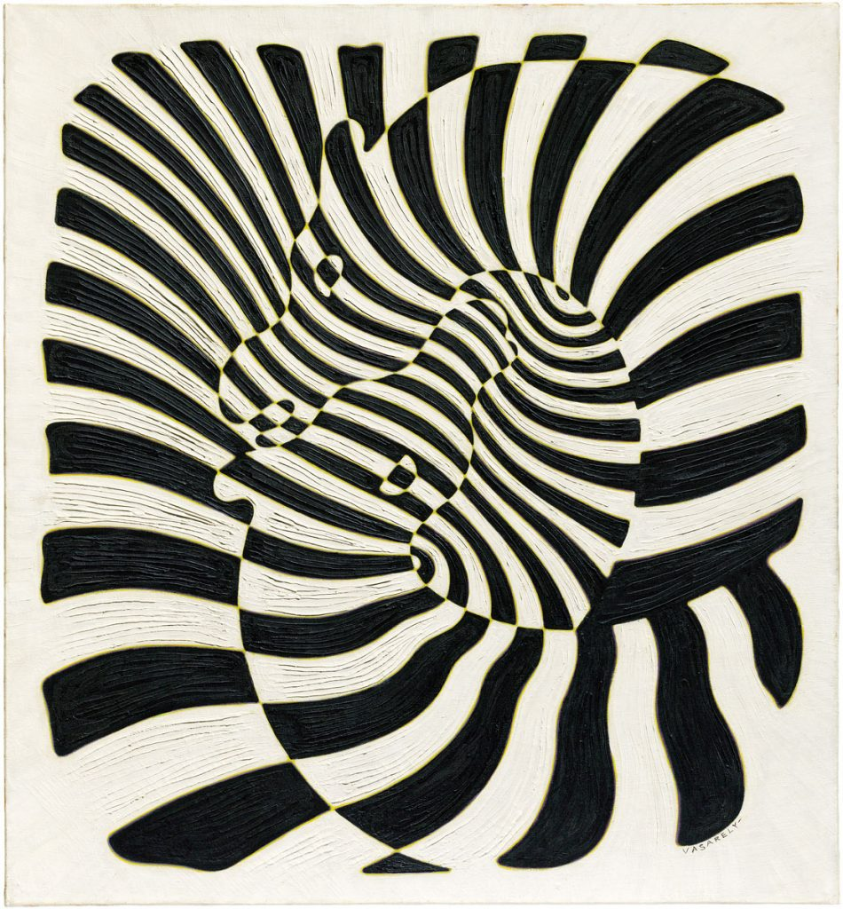 Victor Vasarely, Zèbres, 1932–1942, 112 × 102,9 cm; Collection Har; © VG Bild-Kunst, Bonn 2018 / Foto: Christie's