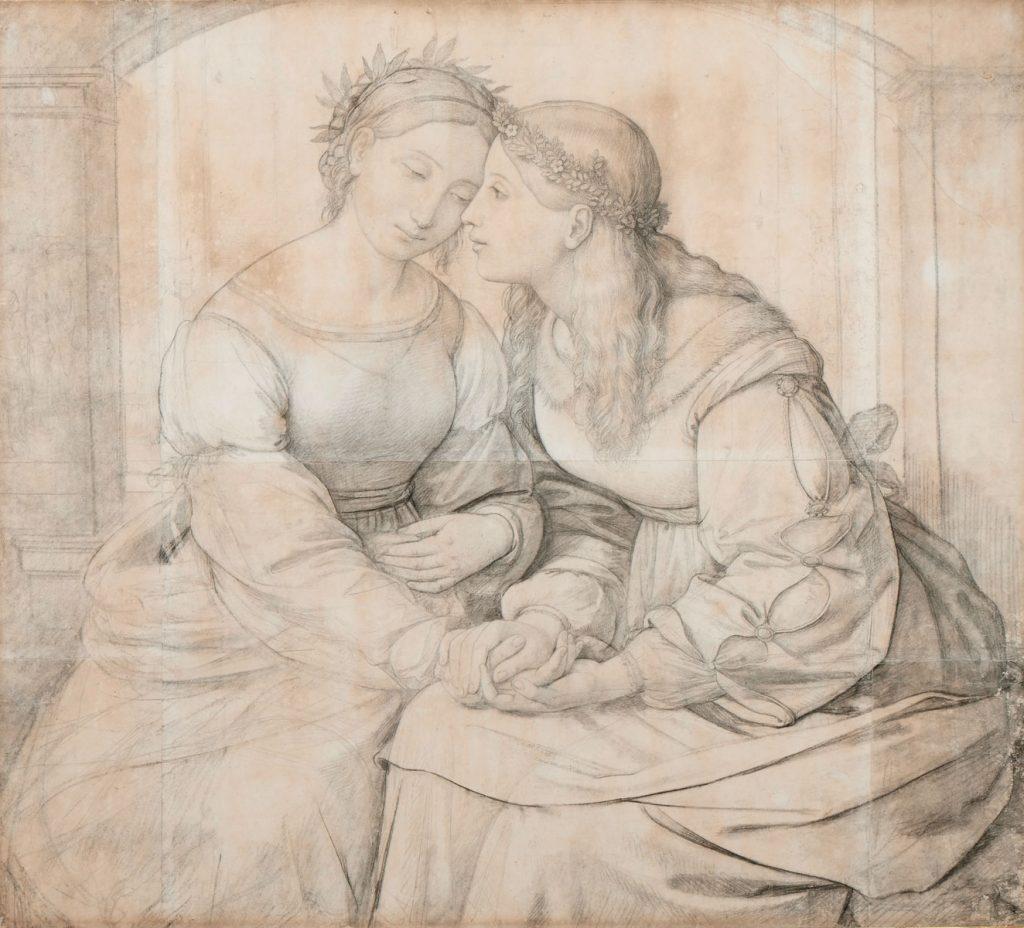 Johann Friedrich Overbeck, Sulamith und Maria, 1811/12, 91,7 × 102,2 cm; Museum Behnhaus Drägerhaus Lübeck; © Drägerhaus Lübeck