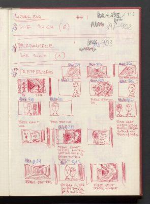 Storyboard für Berlin Alexanderplatz, Regie: Rainer Werner Fassbinder, 1980; © RWFF