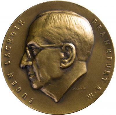 Bruno Eyermann, 70. Geburtstag Eugen Lacroix, Bronze, 1956; Universitätsbibliothek Leipzig
