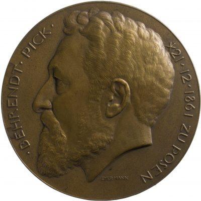 Bruno Eyermann, 60. Geburtstag Pick, Bronze, 1921; Universitätsbibliothek Leipzig