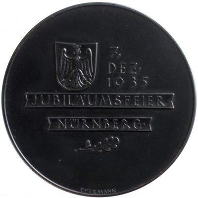 Bruno Eyermann, Jubiläumsdatum mit Wappen Nürnbergs und Eichenzweig; Universitätsbibliothek Leipzig