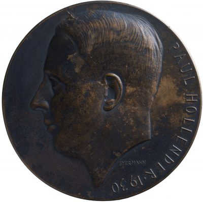 Bruno Eyermann, Vereinsvors. Paul Hollender, Bronze, 1930; Universitätsbibliothek Leipzig