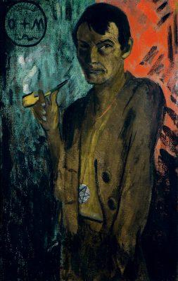 Otto Mueller, Selbstbildnis mit Pentagramm, um 1924, 120 x 75,5 cm; Von der Heydt-Museum Wuppertal © Von der Heydt-Museum Wuppertal / Foto: Antje Zeis-Loi, Medienzentrum Wuppertal