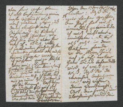 Ludwig van Beethoven, Brief an Heinrich von Struve, Wien, 17. September 1795, 4,7 × 8,1 cm; Beethoven-Haus Bonn; © Beethoven-Haus Bonn