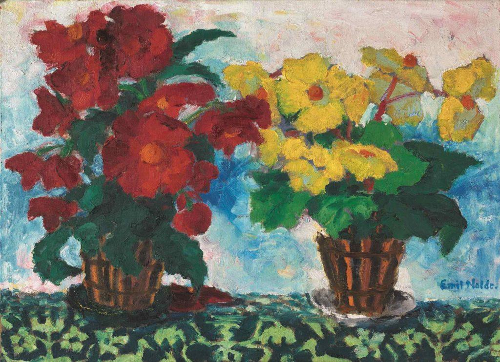 Emil Nolde, Begonien (Rot und Gelb), 1929, 74 × 101 cm; Angermuseum Erfurt; © Foto: Dirk Urban
