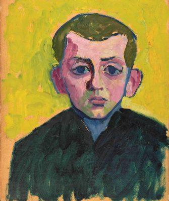 Gabriele Münter, Knabenkopf (Willi Blab), 1908, 39,7 × 33,1 cm; Museum Ludwig, Köln; © VG Bild-Kunst, Bonn 2018 / Foto: Simone Gänsheimer, Ernst Jank, Städtische Galerie im Lenbachhaus und Kunstbau München