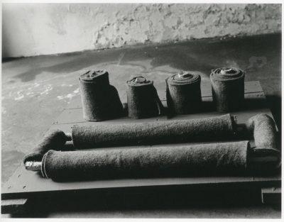 Eva Beuys-Wurmbach, Entwurf für Filz-Environment 1965, Objekt von Joseph Beuys, Raum Drakeplatz 4, 1965; Museum Schloss Moyland; © Eva Beuys und Joseph Beuys: VG Bild-Kunst, Bonn 2018