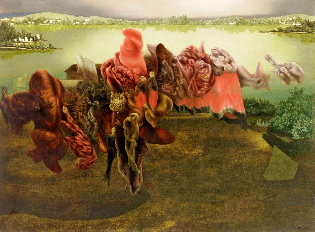 Richard Oelze, Archaisches Fragment, 1935, 98×130 cm; gemeinsames Eigentum des Städelschen Museums-Verein e.V. und des Städel Museums, Frankfurt am Main; © Till Schargorodsky