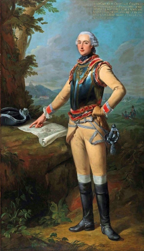 Johann Heinrich Tischbein d.Ä., Louis Gaucher, Duc de Châtillon, 1762, 223×129 cm; Museumslandschaft Hessen Kassel; © Museumslandschaft Hessen Kassel