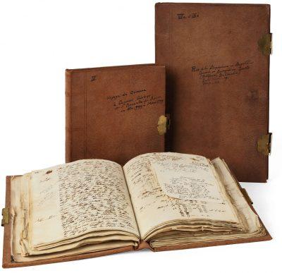 Drei der neun Amerikanischen Reisetagebücher Alexander von Humboldts; Staatsbibliothek zu Berlin; © Staatsbibliothek zu Berlin – Preußischer Kulturbesitz, Nachlass Alexander von Humboldt (Tagebücher)