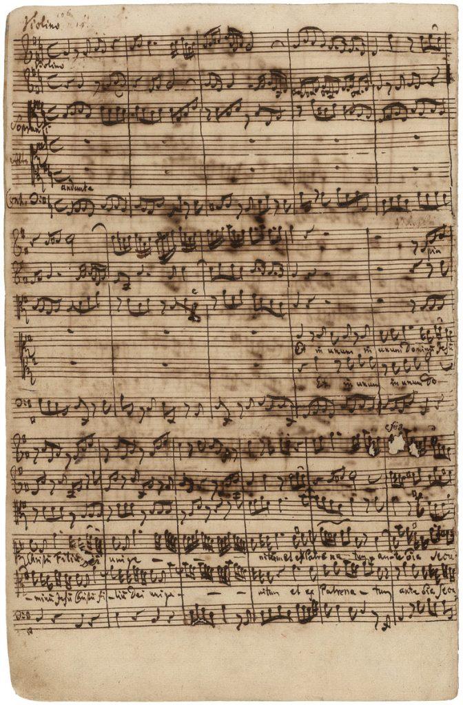 Johann Sebastian Bach, Autograph der h-Moll-Messe, Credo, 1748/49, 33×21,5 cm; Staatsbibliothek zu Berlin; © Staatsbibliothek zu Berlin – Preußischer Kulturbesitz, Musikabteilung mit Mendelssohn-Archiv