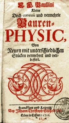 Christian Franz Paullini, Bauern-Physik, 1711; Schloss Wernigerode; © Schloß Wernigerode GmbH