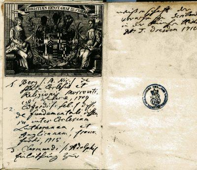 Nicolaus Bergius, Untersuchung zur Geschichte und Theologie der russisch-orthodoxen Kirche, 1709; Schloss Wernigerode; © Schloß Wernigerode GmbH