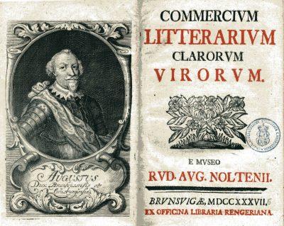 Rudolf August Nolte, Commercium Litterarium Clarorum Virorum, 1737/38; Schloss Wernigerode; © Schloß Wernigerode GmbH
