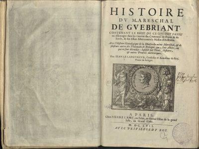 Jean Le Laboureur, Histoire du mareschal de Guebriant, Paris, 1657; © Rudomino-Zentrum des Buches