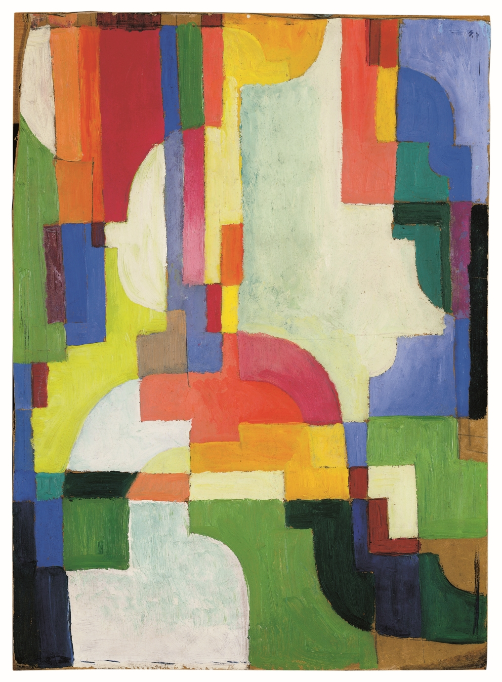 August Macke, Farbige Formen I, 1913, 67,5 × 53,0 cm; Münster; © LWL Foto: Sabine Ahlbrand-Dornseif
