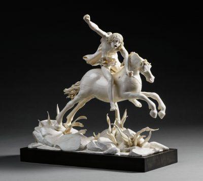Furienmeister, Die Furie auf sprengendem Pferd, 1610, 41 × 47 × 26 cm; Liebieghaus Skulpturensammlung - Sammlung Reiner Winkler, Frankfurt am Main; © Liebieghaus Skulpturensammlung