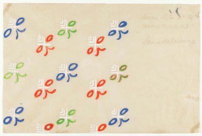 Sonia Delaunay, Dessin S.G. no 121, 16,2 × 24,6 cm; Kunstmuseen Krefeld; © Pracusa 2018652