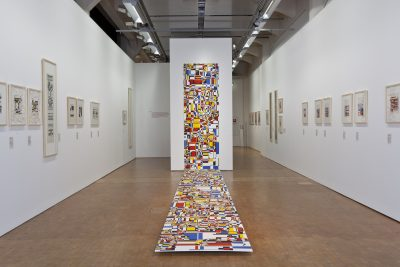 Hiroshi Kawano, Simulated Color Mosaic [Simuliertes Farbmosaik], 1970 / 2011, 300 × 100 × 700 m; ZKM | Zentrum für Kunst und Medien Karlsruhe; © Hiroshi Kawano, Foto © ZKM | Zentrum für Kunst und Medien Karlsruhe, Foto: Tom Hahn