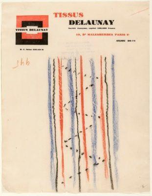 Sonia Delaunay, No. 945, 1925, 31 × 25 cm; Kunstmuseen Krefeld; © Pracusa 2018652