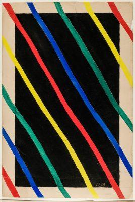 Sonia Delaunay, No. 1259, 1922/1925, 45 × 30 cm; Kunstmuseen Krefeld; © Pracusa 2018652