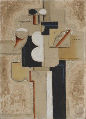 Willi Baumeister, Skizze zu Figurenbild (Der Maler), 1923, 65,0 × 46,5 cm; Saarlandmuseum; © VG Bild-Kunst, Bonn 2019