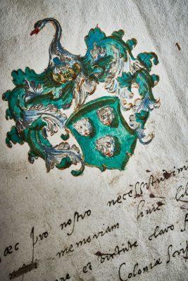 Stammbuch des Wilhelm Weyer (Niederrhein), 17. Jh.; ULB Bonn; © Volker Lannert/Uni-Bonn