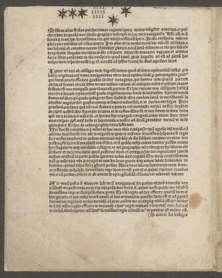 Epistola Albericij. De novo mundo, 1505; Signatur UB Rostock: SON B 2; © Foto: Universitätsbibliothek Rostock