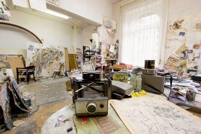 Das ehemalige Atelier von Norbert Nüssle in Mannheim. Foto: Gert Reinhardt | www.fabrikstation.de