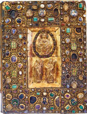 Einband des Samuhel-Evangeliars aus dem Quedlinburger Domschatz, um 840. © Foto: Elmar Egner M.A.